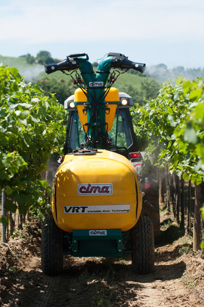 VRT sprayer dynamic tests at Nova Agricoltura 2015