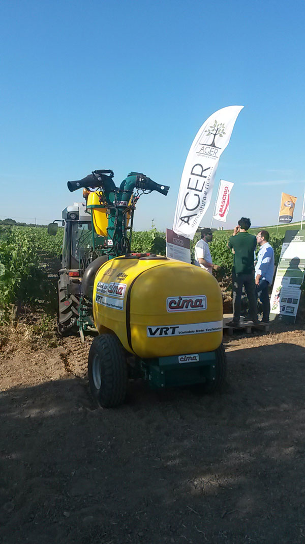VRT sprayer at Enovitis 2015