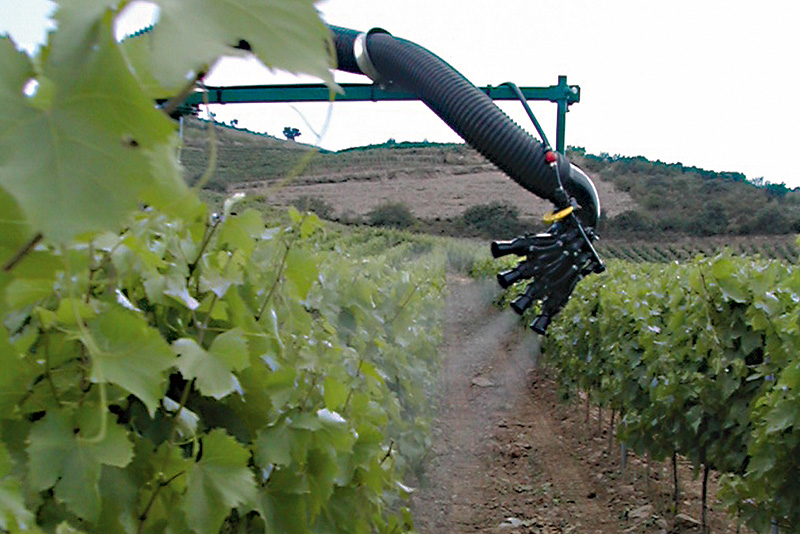 A CIMA sprayer in vineyard