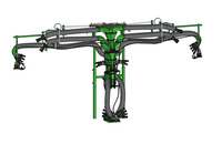 6 hands 4 cannons narrow sprayhead with hydr.movement / MULTI - VITIS 6